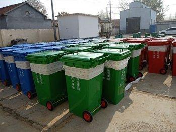 240升镀锌钢板垃圾桶在山东省德州市卸货组装